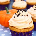 Cream Cheese Filled Pumpkin Cupcakes with Maple Whipped Cream