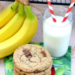 Soft and chewy Gluten Free Chocolate Chunk Banana Cookies have just the right amount of banana flavor, reminiscent of your favorite homemade banana bread.