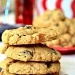 Gluten Free Cinnamon White Chocolate Oatmeal Raisin Cookies