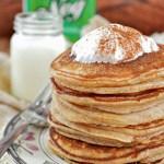 Gluten Free Cinnamon Eggnog Pancakes