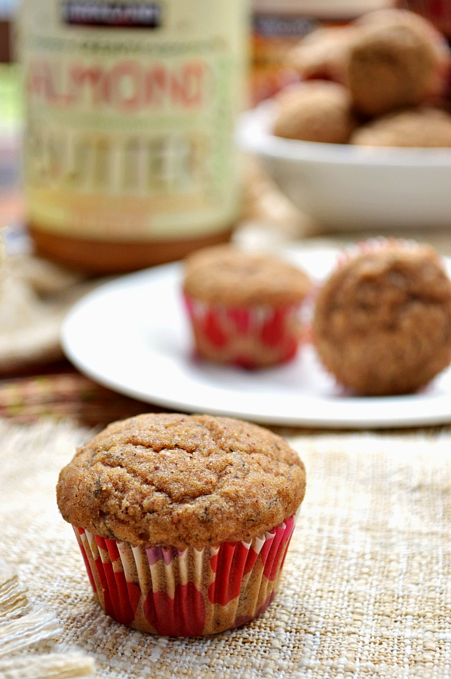 You won't find one ounce of guilty eating with these Gluten Free Almond Butter Applesauce Muffins! They're made with coconut oil, pure maple syrup, applesauce, and banana. Snack on them all day!
