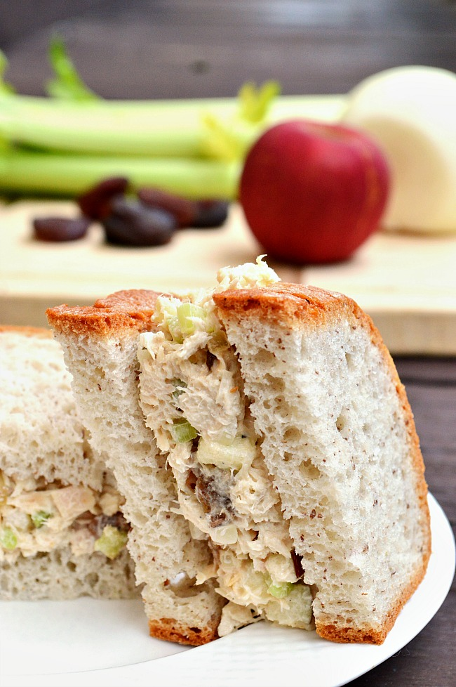 Whip up these delightful Gluten Free Apricot and Apple Tuna Salad Sandwiches for a quick and easy, sweet and savory lunch or main meal. They're full of texture and full of flavor!