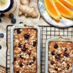 Gluten Free Honey Orange Ginger Blueberry Banana Bread