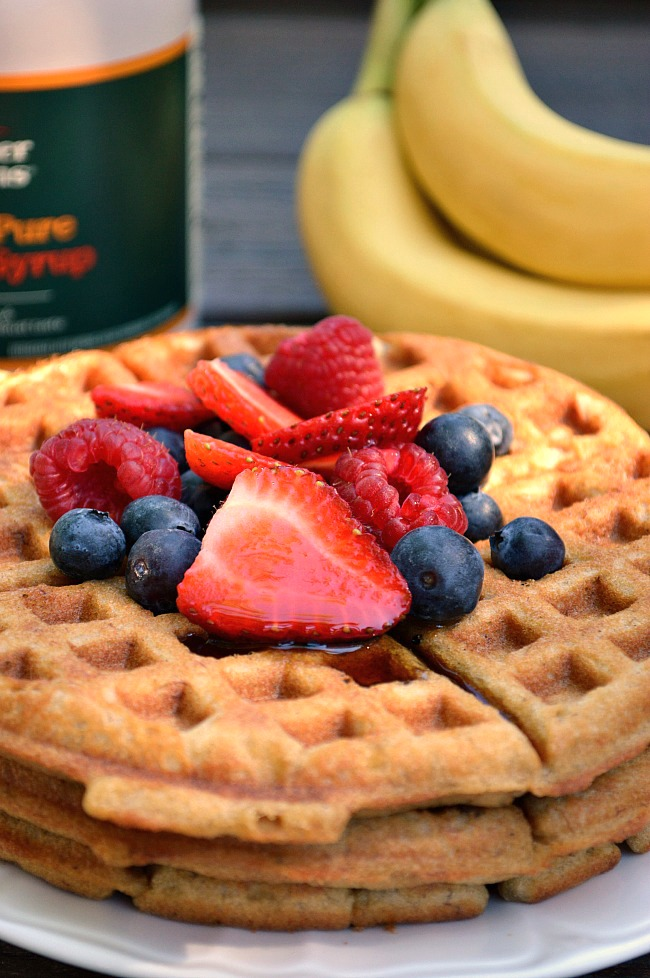 With the exception of their outwardly crispy crust and a light, fluffy center, these Gluten Free Breakfast Banana Bread Waffles are completely reminiscent of warm banana bread fresh out of the oven and full of flavor!