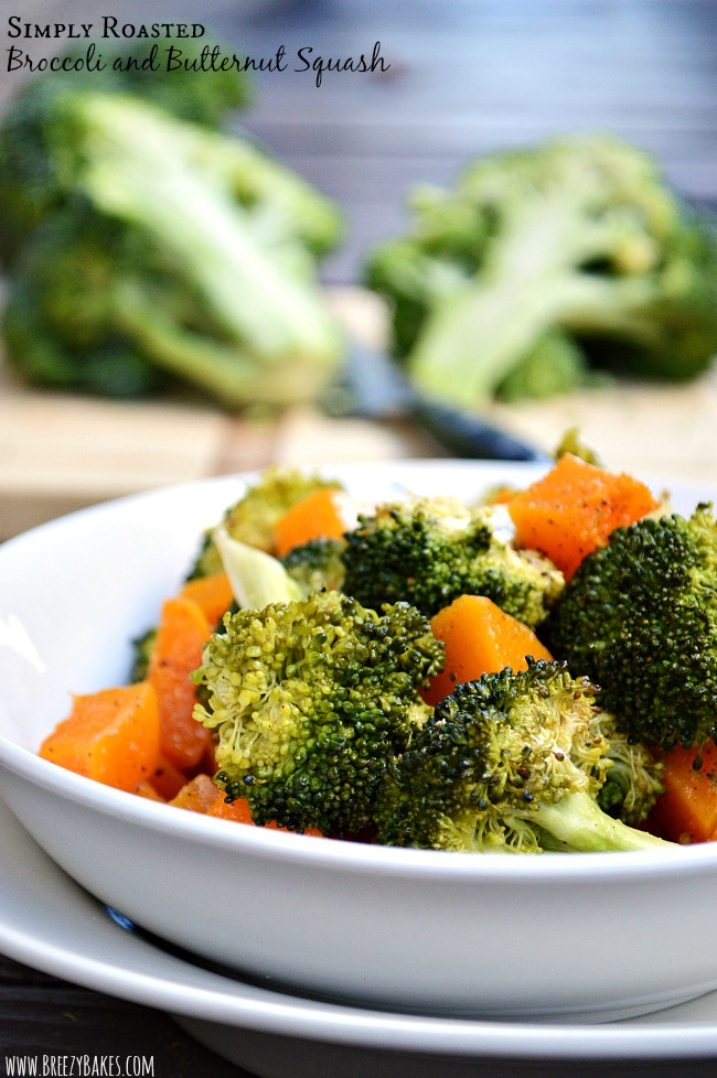 A simple side of Roasted Broccoli and Butternut Squash will elevate any dinner. Plus it will make you feel all healthy and happy. Win, win!