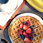 Gluten Free Breakfast Banana Bread Waffles