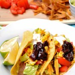 Gluten Free Mango Adobe Steak Tacos