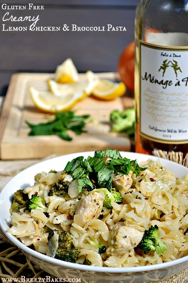 You'll want to marry all the flavors of this simple, quick weeknight meal of Gluten Free Creamy Lemon Garlic Chicken and Broccoli Pasta. Warning: It's slightly addicting.