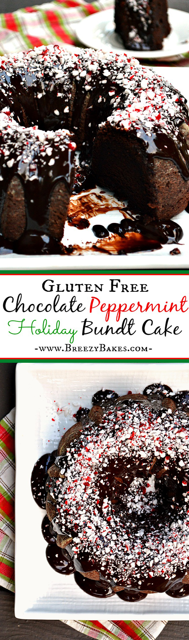 Gluten Free Chocolate Peppermint Bundt Cake - Breezy Bakes