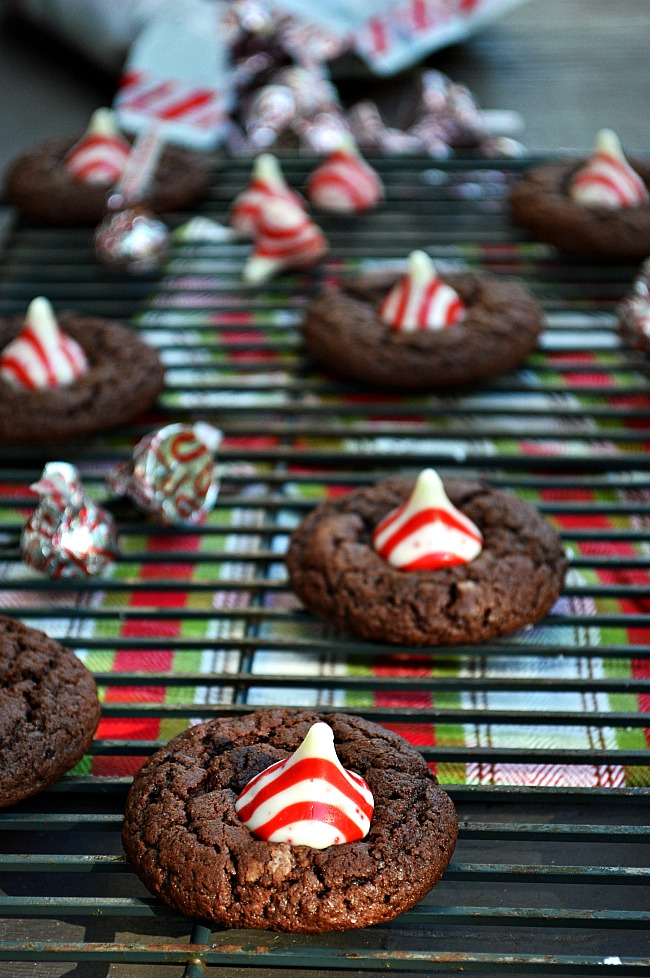 Gluten Free Chocolate Peppermint Hershey S Kisses Cookies
