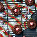 Gluten Free Chocolate Peppermint Hershey's Kisses Cookies
