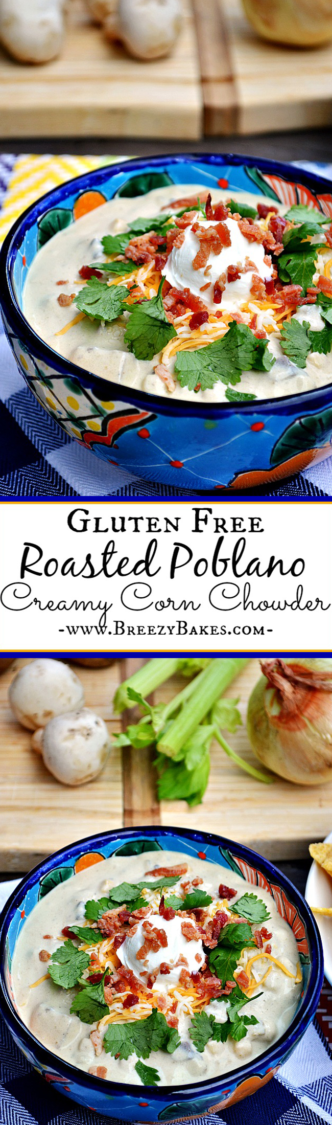 End a long day with this soothing and slightly spicy Gluten Free Roasted Poblano Creamy Corn Chowder. And then enjoy it day after day after day because it just keeps getting better.