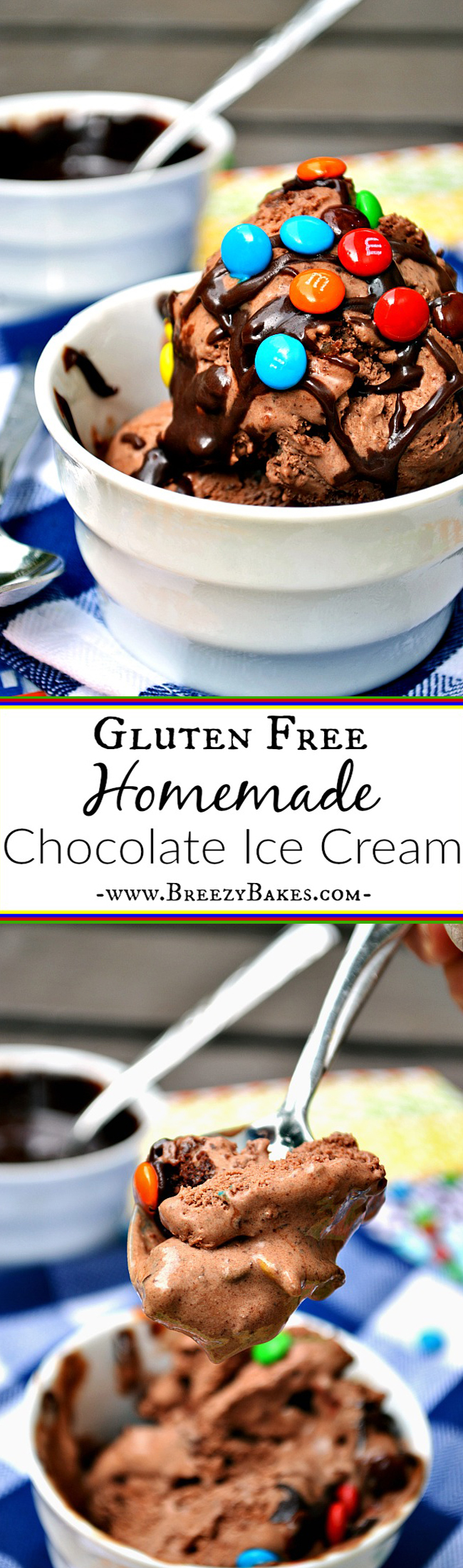 Make a refreshing batch of this rich and chocolaty Gluten Free Basic Chocolate Ice Cream. Dress it up with your favorite toppings and mix-ins.