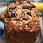 Gluten Free Toasted Coconut Toffee Banana Bread