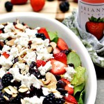 Gluten Free Goat Cheese Berry Spinach Salad