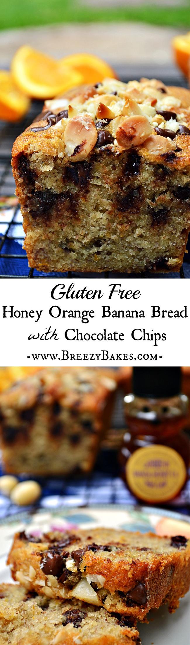 Gluten Free Honey Orange Banana Bread with Chocolate Chips ...