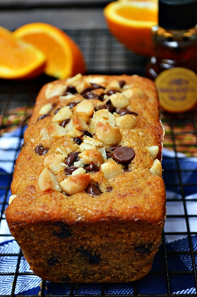 Add some fresh spring flavors to your banana bread with this Gluten Free Honey Orange Banana Bread with Chocolate Chips. Dessert for breakfast anyone???