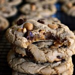 Enjoy your favorite homemade chocolate chip cookies with a little peanut butter twist in these Gluten Free Double Peanut Butter Milk Chocolate Chip Cookies. Creamy peanut butter and Reese's peanut butter baking chips combine to give the perfect peanut butter taste in every bite.
