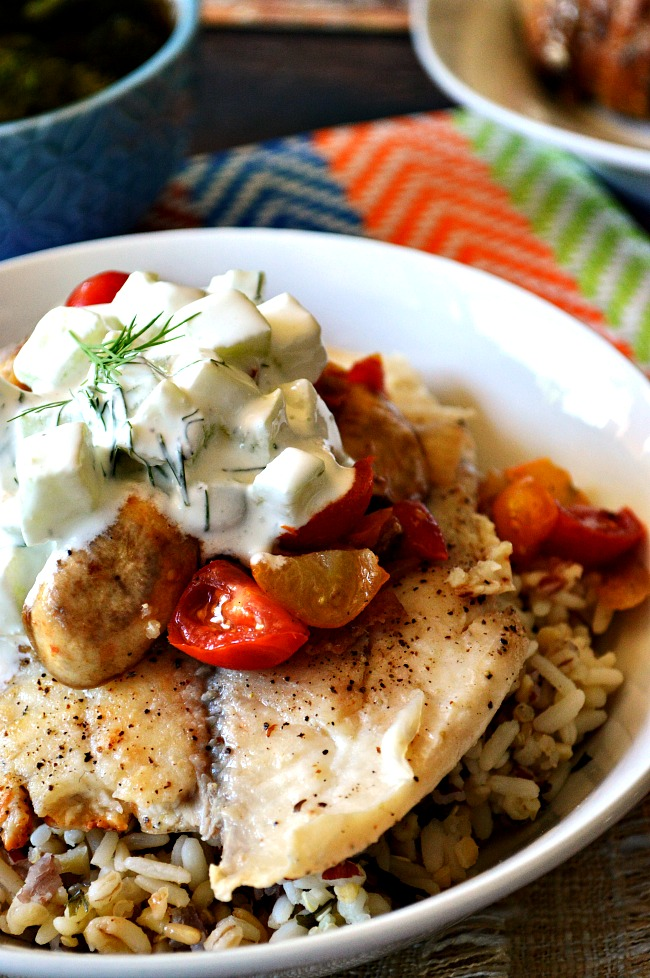 There's nothing like fresh fish cooked to perfection, topped with cool cucumber sauce. Summer's got me craving this Pan Fried Tilapia with Cucumber Dill Sauce like no other!