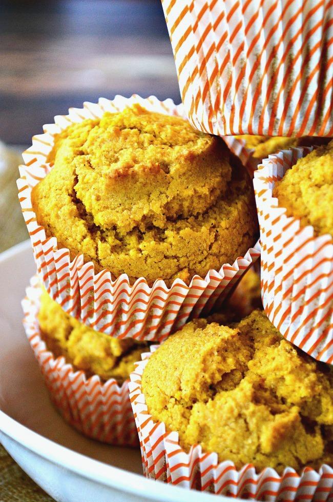 Gluten Free Pumpkin Cornbread Muffins - Breezy Bakes