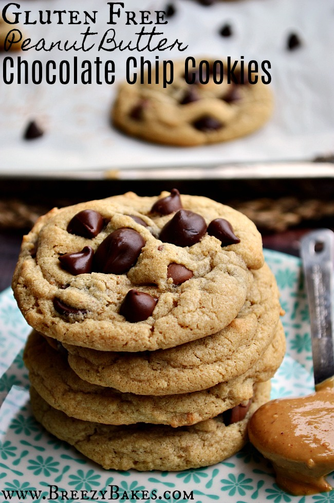 Gluten Free Peanut Butter Chocolate Chip Cookies Breezy Bakes