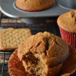 Wake your kiddos up with a batch of these tasty Gluten Free Graham Muffins. They're made with graham cracker crumbs and are reminiscent of bran muffins.