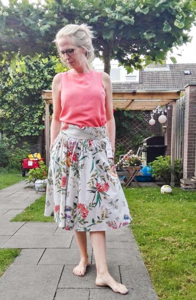 gebloemde rok zara floral skirt fashion inspiration bregblogt.nl