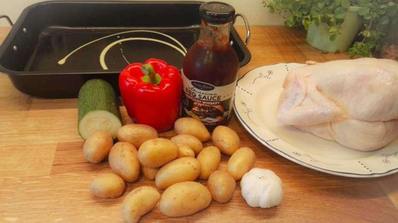 Ingrediënten recept hele kip barbecuesaus bregblogt.nl