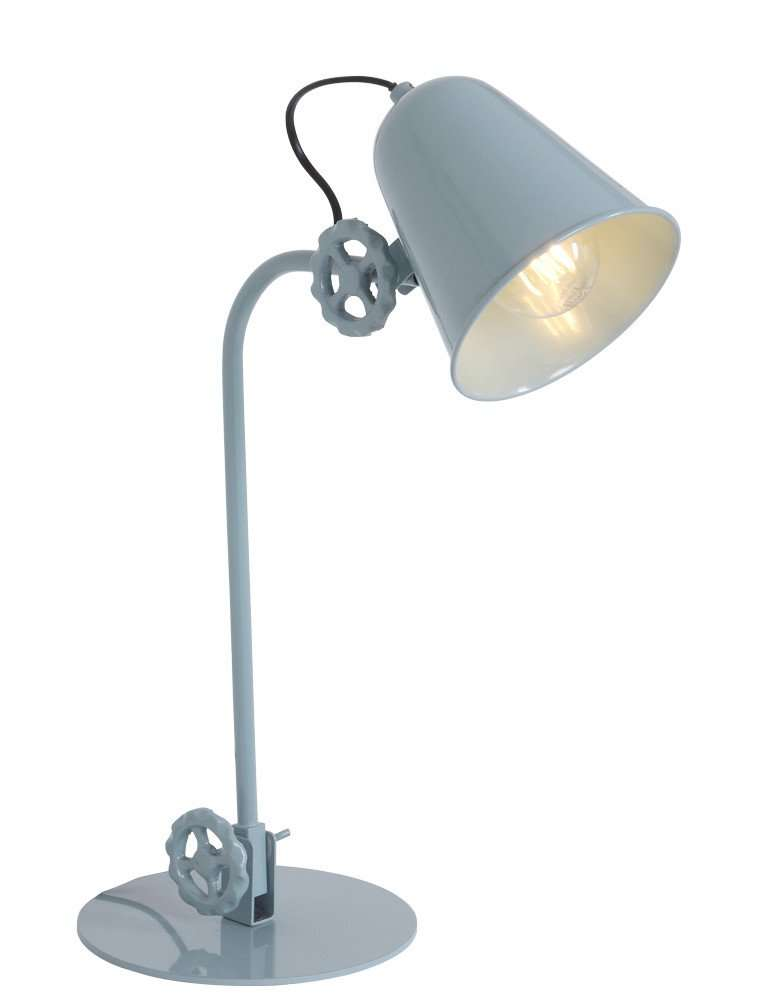 Mintblauwe-tafellamp-draaiknoppen-industrieel-Anne-Lighting-Dolphin directlampen.nl bregblogt.nl