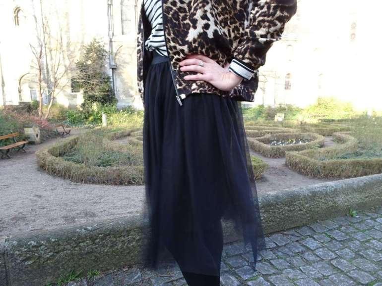 close up outfit luipaard streepjes tule rok bregblogt.nl