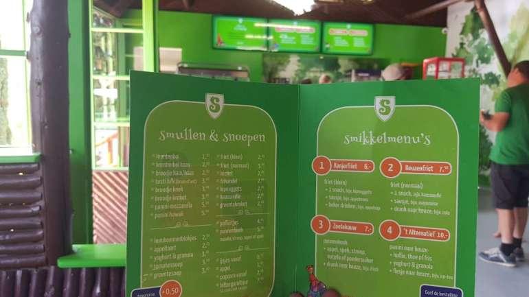 Sprookjesbos menukaart 't Winkeltje Bregblogt.nl