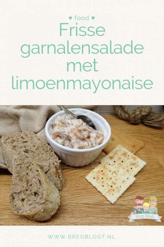 Frisse garnalensalade met limoenmayonaise bregblogt.nl recept borrel diner voorgerecht