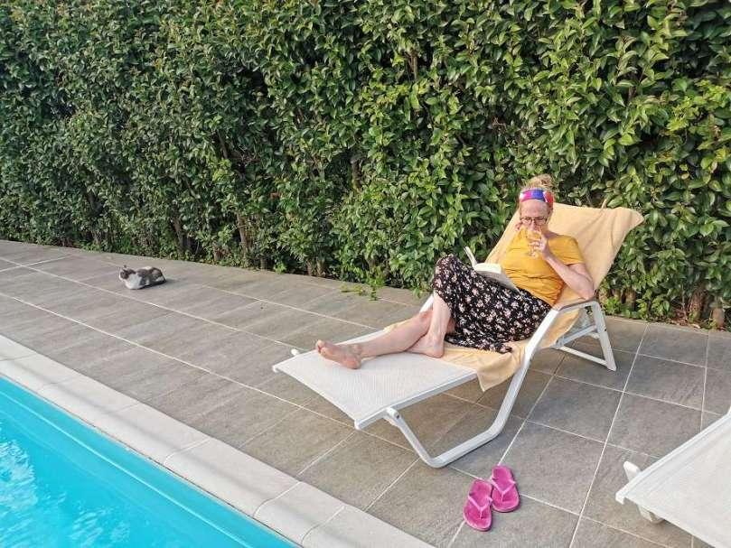 eerste dagen vakantie Olivetto villas lefkas bregblogt.nl zwembad lezen vakantie huwelijksreis
