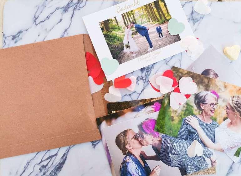 Bedankkaartje bruiloft met een persoonlijke herinnering bregblogt.nl