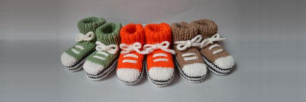 Baby sportschoentjes breien breipatroon Allstars