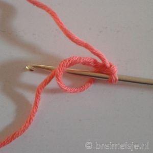Haken magische ring magic loop stap 5