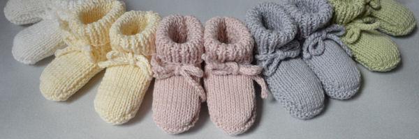 Patroon babysokjes breien