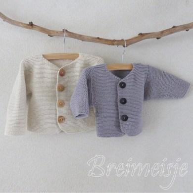 Babyjasje breien patroon ribbels