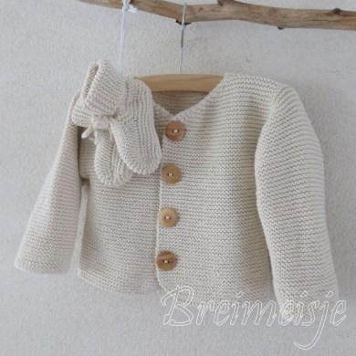 Patroon babyjasje breien baby 3 maanden