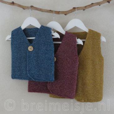 Patroon gilet - vest voor kind breien