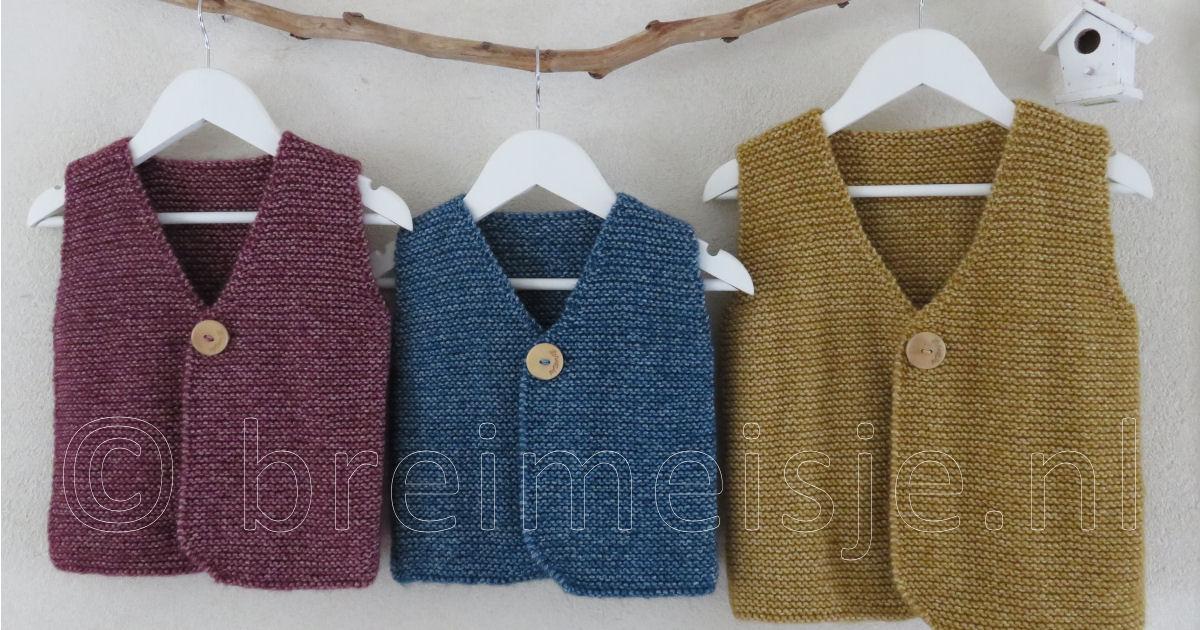 Patroon Gilet Vest Breien Voor Kind Van 1 Tot 4 Jaar Breimeisjenl