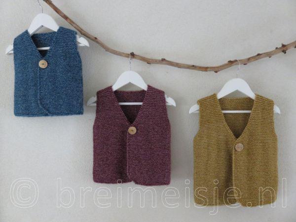Patroon gilet - vestje voor kind breien