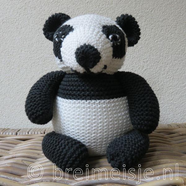 Panda Pandabeer Reuzenpanda Breien Patroon Van Breimeisje