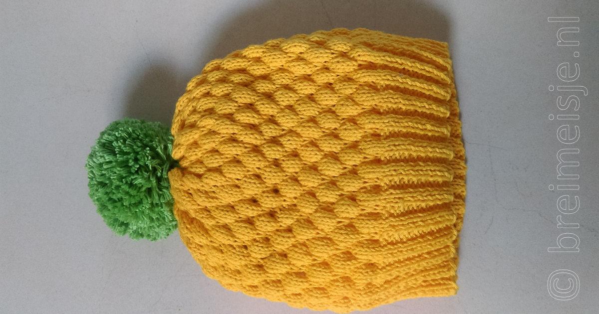 Bubble Wrap Stitch Breien Ofwel Patroon Bubbelsteek Breimeisjenl