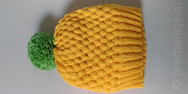 Bubble wrap stitch bubbel steek breien patroon