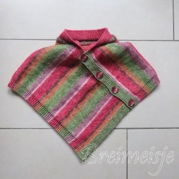 Kinder poncho breien patroon maat 68-74