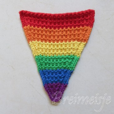 regenboogvlag zelf maken