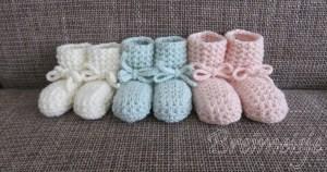 Patroon babysokjes wafelsteek breien