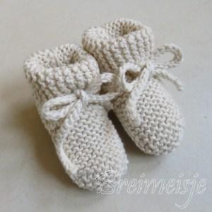 Babysokjes ribbels breien
