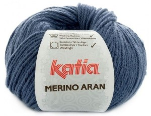 Katia Merino Aran donker denim 58